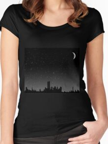 City Skyline Women's Fitted Scoop T-Shirt