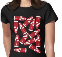Chocolate Santa Claus Pattern Womens Fitted T-Shirt