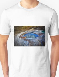 Water pools in sink holes on the shore of the Dead Sea T-Shirt