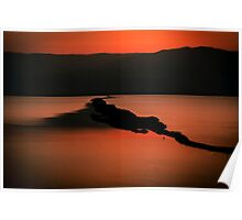 Israel, Dead Sea landscape view at dawn  Poster