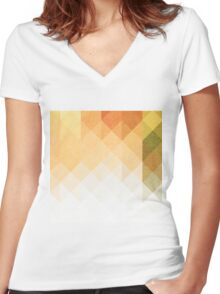 Three Way Retro Women's Fitted V-Neck T-Shirt