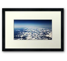Snow Mountains Framed Print