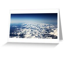 Snow Mountains Greeting Card