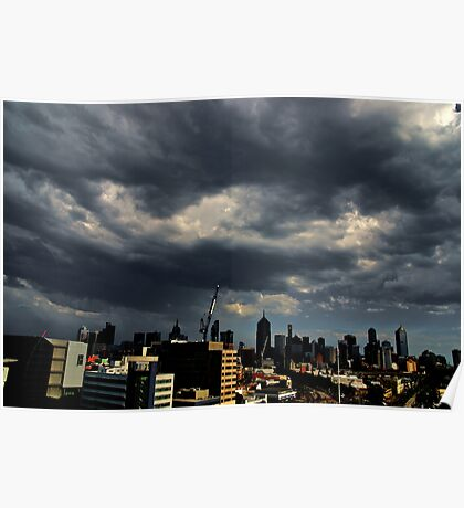 Stormclouds over Melbourne Poster