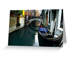 Italy, Venice, Gondola in a canal Greeting Card