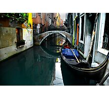 Italy, Venice, Gondola in a canal Photographic Print