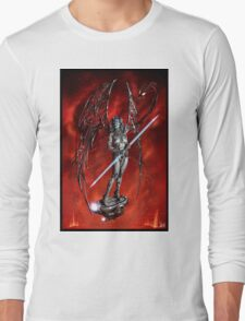Robot Angel Painting 007 Long Sleeve T-Shirt