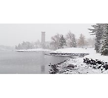 Dingle Tower Snow Day Photographic Print