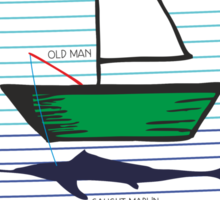 Old man and the sea Sticker