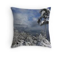 Oak Harbor Snow Tree Throw Pillow