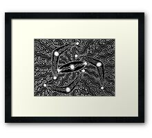 Irrgil/Marrga - (boomerang & shield) monsoon season Framed Print