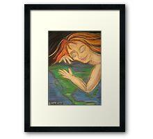 Gaia Awakening Earth Framed Print