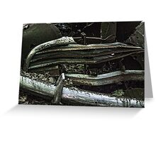 Vintage Old Car Grill And Bumper Greeting Card
