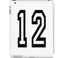 TEAM SPORTS, 12, NUMBER 12, twelfth, twelve, ONE, TWO, Competition,  iPad Case/Skin