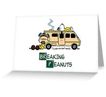Breaking Peanuts Greeting Card