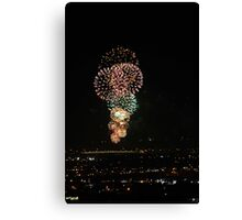 Australia Day Fireworks 2008  Canvas Print
