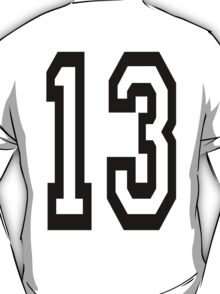 TEAM SPORTS, 13, NUMBER 13, THIRTEEN, THIRTEENTH, ONE, THREE, Competition,  T-Shirt
