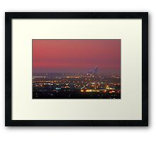 Perth At Dusk Framed Print