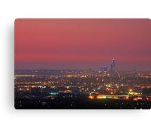 Perth At Dusk Canvas Print
