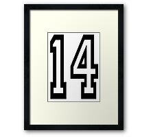 TEAM SPORTS, NUMBER 14, FOURTEEN, FOURTEENTH, Competition,  Framed Print
