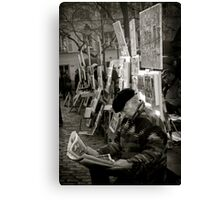The Montmartre Reader Canvas Print