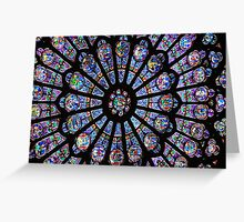 Stained Window Greeting Card