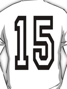 TEAM SPORTS, NUMBER 15, FIFTEEN, FIFTEENTH, Competition,  T-Shirt