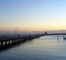 Sun Sets of Over St Kilda Pier   by Christine  Wilson Photography
