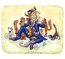 Doctor Mew? (The Sixth Doctor with Cats) Photographic Print