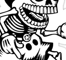 mickey skull Sticker