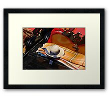 Hat of one gondolier in Venice  Framed Print