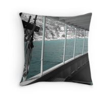 The Adriatic Sea Throw Pillow