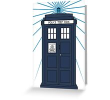 Tardis with white background Greeting Card