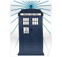Tardis with white background Poster
