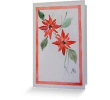 Red border flower Greeting Card