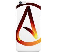 Red Hot Atheist Symbol iPhone Case/Skin