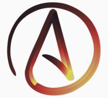 Red Hot Atheist Symbol T-Shirt