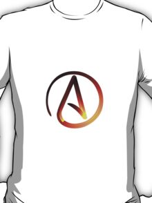 Red Hot Atheist Symbol T-Shirt