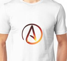 Red Hot Atheist Symbol Unisex T-Shirt