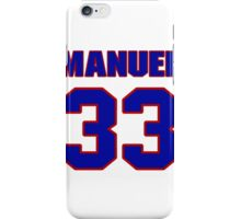 National football player Marquand Manuel jersey 33 iPhone Case/Skin