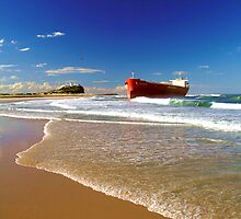 Pasha Bulker on Nobby's Beach by Chris Wheat