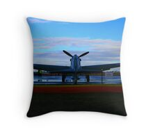 Waiting in the dawn Throw Pillow