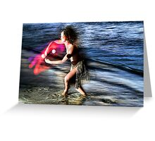 The Color of Motion Greeting Card