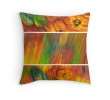 Blurred Silk Pattern Tryptych Throw Pillow