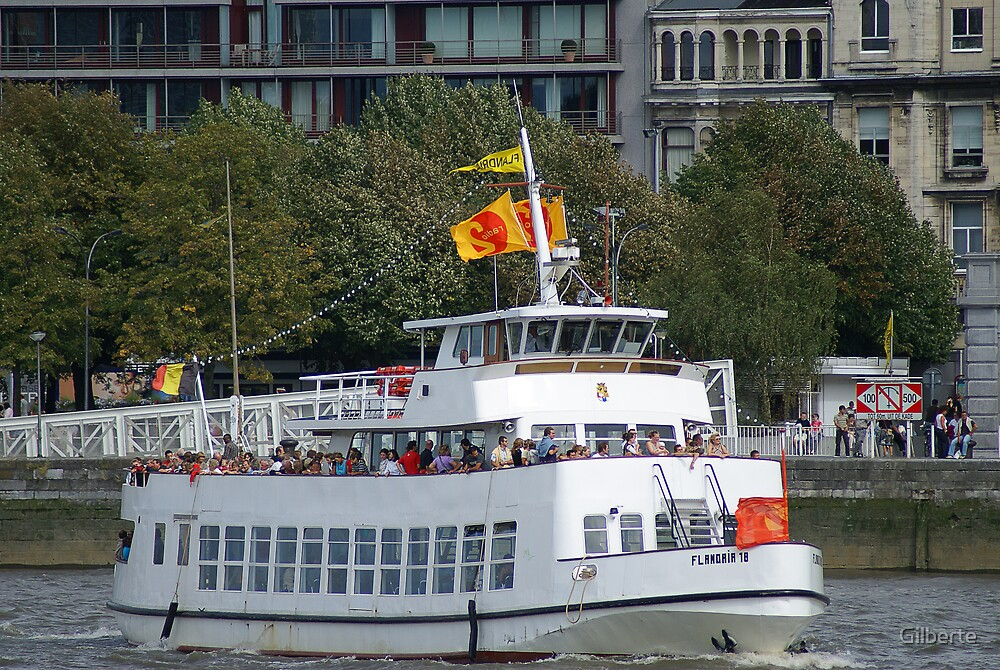 Antwerp - Excursion Boat Flandria 18 by Gilberte