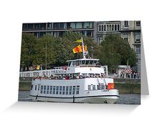 Antwerp - Excursion Boat Flandria 18 Greeting Card
