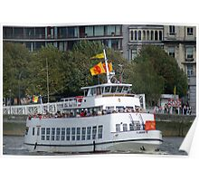 Antwerp - Excursion Boat Flandria 18 Poster