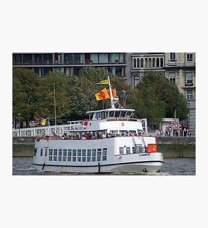 Antwerp - Excursion Boat Flandria 18 Photographic Print