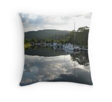 Caledonian Canal near Loch Ness Throw Pillow