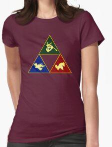 Hoenn's Legendary Triforce Womens Fitted T-Shirt